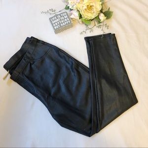 Faded Glory Faux Leather Skinny Pants Size XL